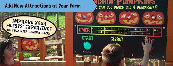 Increase admission with new attractions at your farm or park