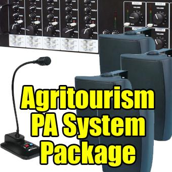 pa system package audio and safety systems for agritourism. Black Bedroom Furniture Sets. Home Design Ideas