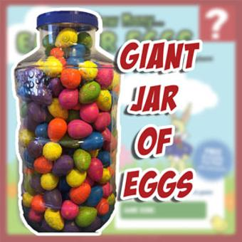 giant jar of easter eggs agritourism attractions games puzzles