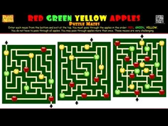 Puzzle Mania Apple Mazes Game | Agritourism Attractions - Games - Puzzles